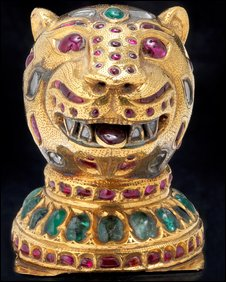 Tipu Sultan's gem-encrusted tiger's head
