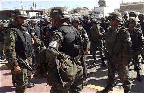 Mexican army in Ciudad Juarez