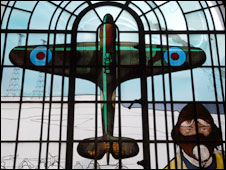 stained glass window at RAF Bentley Priory