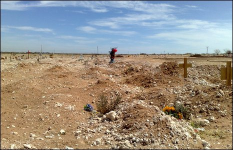 Unmarked grave in Mexico