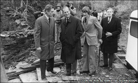 L-R: Gerard Morgan-Grenville, Prince Philip and Mark Matthews, CAT director in 1974