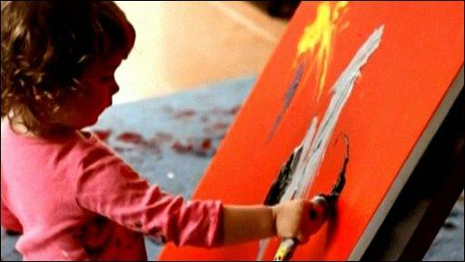 Aelita Andre painting