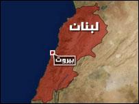 خارطة لبنان