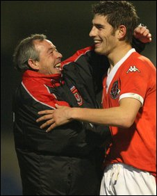 Brian Flynn embraces Ched Evans