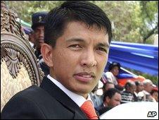 Andry Rajoelina in Antananarivo on 21 March 2009