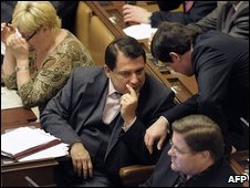 Czech Social Democrat opposition leader Jiri Paroubek