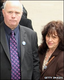 Barry and Margaret Mizen at the Old Bailey on 13 March 2009