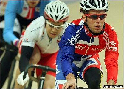 Mark Cavendish in training