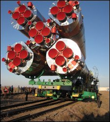 Soyuz spacecraft ready for launch