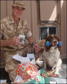 L/Cpl Wilkinson with Jamie (picture Ministry of Defence)