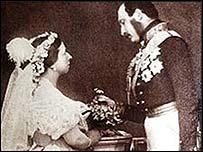 La reina Victoria con el príncipe Alberto
