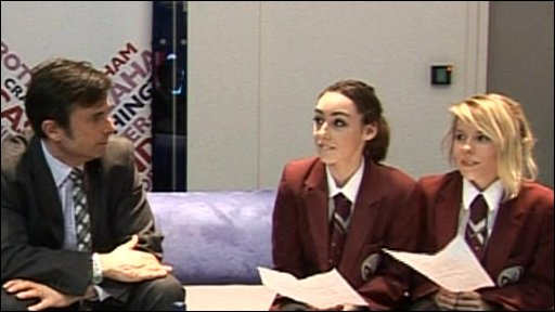 School Reporters interviewing Robert Peston