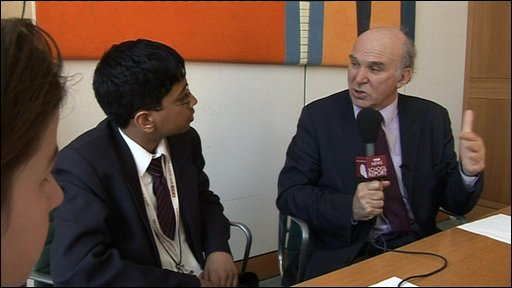 School Reporters interview Vince Cable