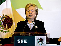 Hillary Clinton en M�xico