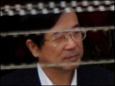 Chen Shui-bian leaves the detention centre for the courtroom, 26 March