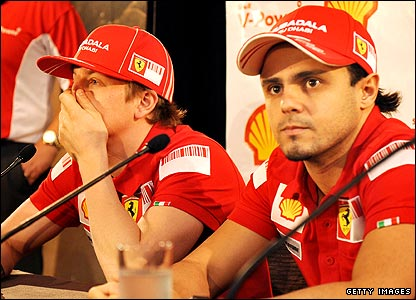 Kimi Raikkonen and Felipe Massa