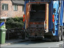 Rubbish collection in Cheshire