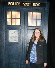 Jan Storie with the tardis