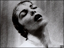 Janet Leigh in the notorious shower scene in Psycho