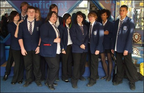 Heath Park Business and Enterprise College students