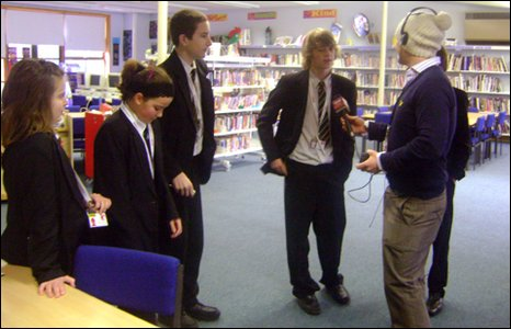 Young reporters at Tendring Technology College