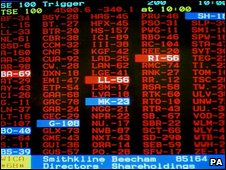 Stock price screen