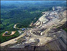 Boss Mining's complex seen from the air