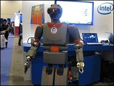Robot at Intel conference