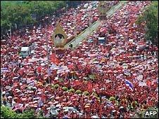 Pro-Thaksin supporters demonstrate in Bangkok - 26/3/2009