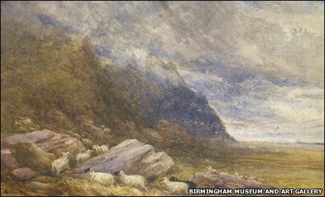 Penmaen Bach - a watercolour from David Cox from 1852