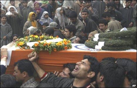 Shabir Ahmed Malik's funeral