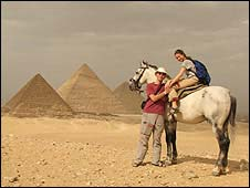 Guy and Gili Rosenzweig in Egypt