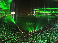 Light show at Croke Park in January 2009 to celebrate the GAA's 125th anniversary