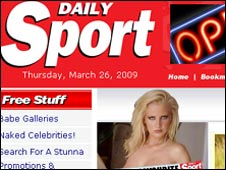 Daily Sport website