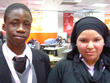 School Reporters Albert and Waad