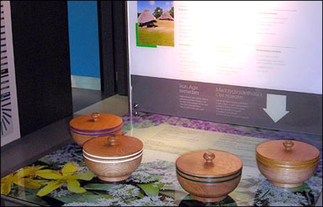 One of the sensory exhibits encourages visitors to smell different herbs
