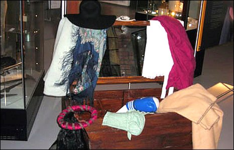A dressing up box allows adults and children to try on clothes from different periods