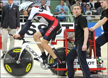 American Taylor Phinney in the gate
