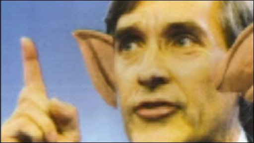 John Redwood with 'spock-ears'