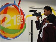 School Reporters filming