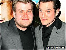 James Corden (left) and Mathew Horne