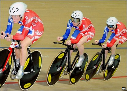 Lizzie Armistead, Wendy Houvenaghel and Joanna Roswell