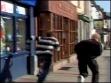 'Offenders' fleeing robbery in the film