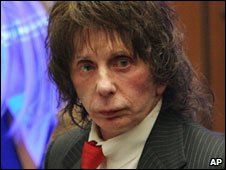 Phil Spector in court, 25 March 2009