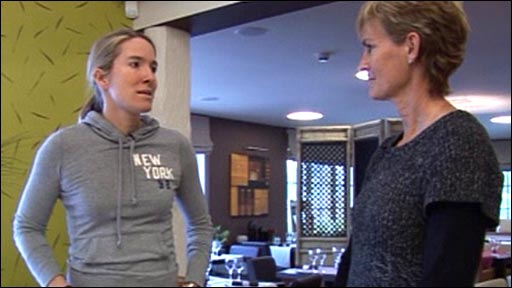 Justine Henin and Judy Murray
