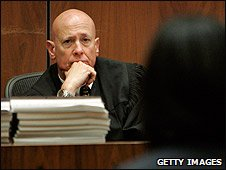 Judge Larry P Fidler at the trial of Phil Spector in Los Angeles, US (26/03/2009)