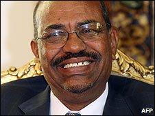 Sudanese President Omar al-Bashir in Cairo, Egypt (25/03/2009)
