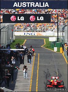Felipe Massa in action at the Australian Grand Prix