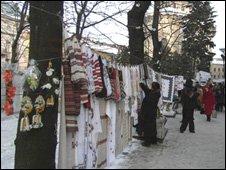 Streetmarket in Lviv