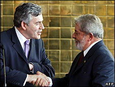 Gordon Brown and Lula